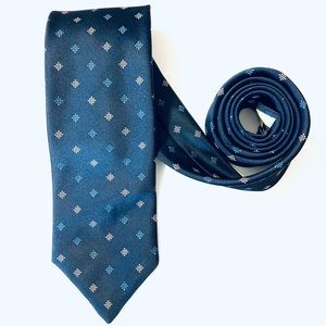 Givenchy Silk Tie Made in USA Navy Blue